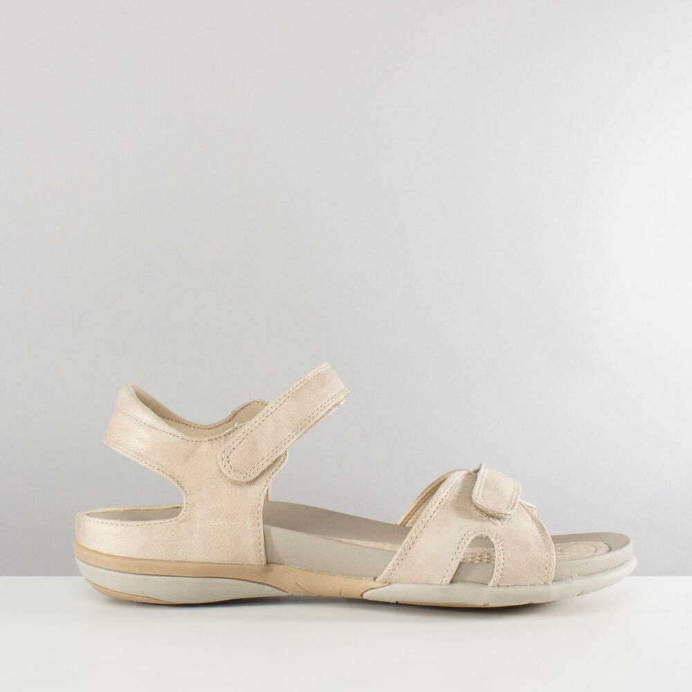 923f104ab Details about Rieker V9462-62 Ladies Womens Touch Fasten Casual Wedge  Sandals Nude Beige