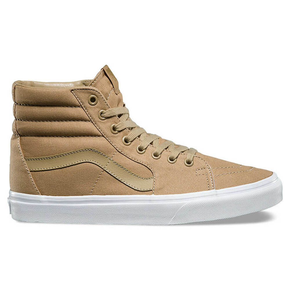 f916d50cdfb9 Details about VANS Sk8 Hi (Mono Canvas) Khaki True White High Top Skate  Shoes WOMEN S 9