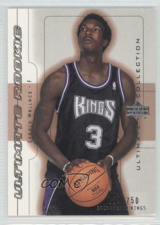 United 2002-03 Sp Signatures Gw Gerald Wallace Sacramento Kings Autograph Wholesale Lots