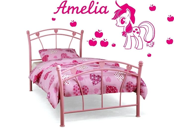 my little pony wall stickers applejack girls personalisation name
