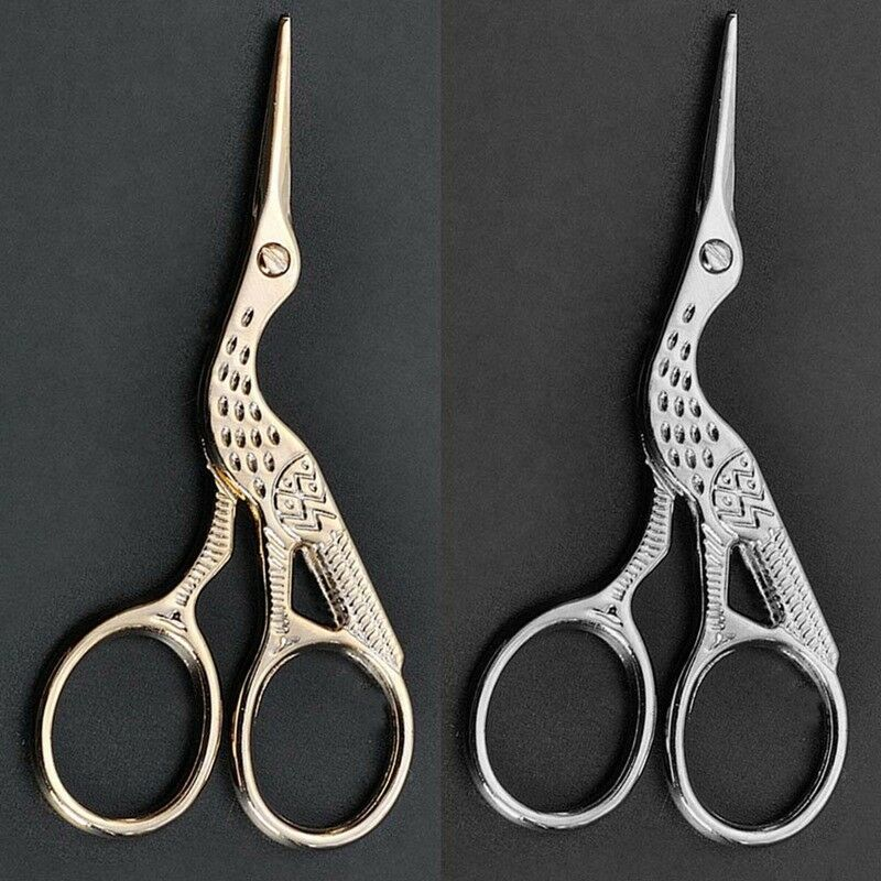 Cutting Supplies Scissors Vintage Diy Crane Shape Gold Tailor Sewing Embroidery Stainless Steel Scissors Unique For Crafts Handmade Diy Accessories