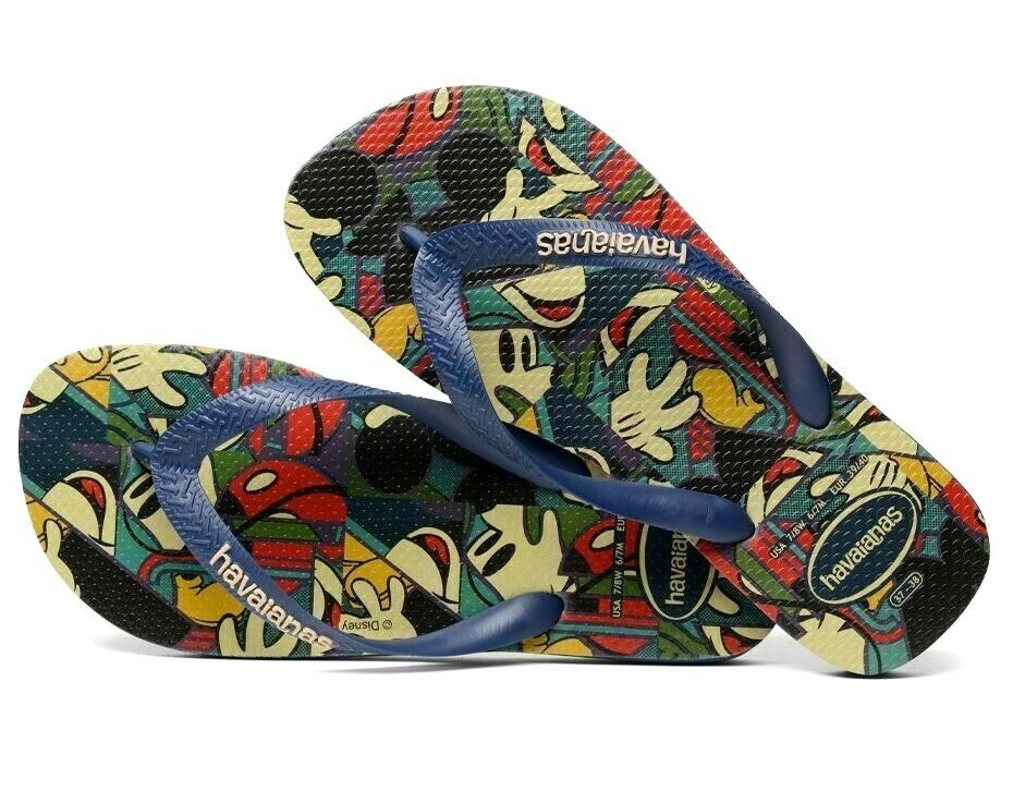 bc03cd0ef8bcc Details about NWT - Havaianas Kids Disney Abstract Mickey Mouse Flip Flop  Sandals - Youth 3 4