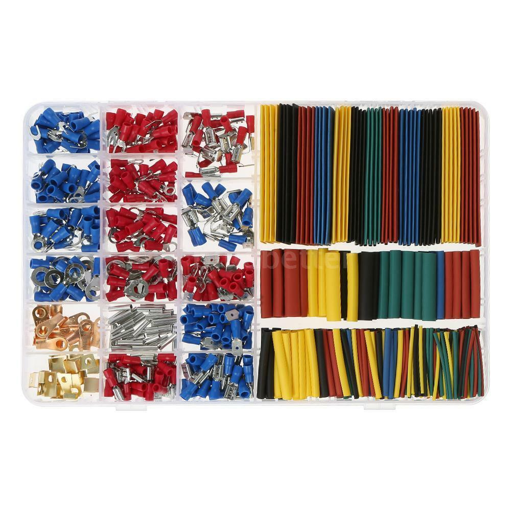 678pcs Crimp Terminal Wire Connector 328 21 Heat Shrink Tube Electric Fence Joiner 25pcs Electrical Set 652054276223 Ebay