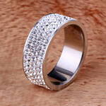 Silver Women Ring size 8-10 stainless steel 2018 new with tags Free Shipping