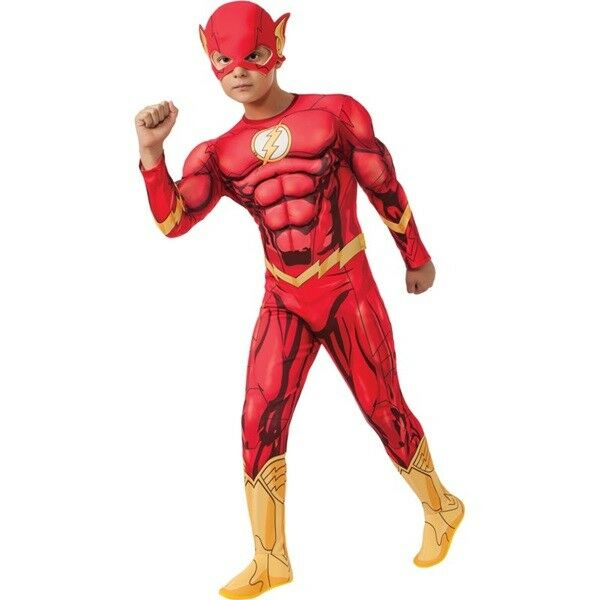 Kids Dc Comics The Flash Deluxe Muscle Chest Costume Child Size