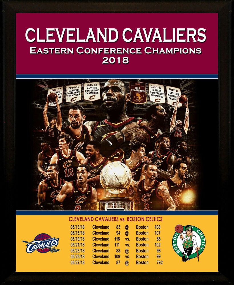 14ed034bfb2 CLEVELAND CAVALIERS 2018 Eastern Conference Champs LeBron James 8x10 Plaque  Art