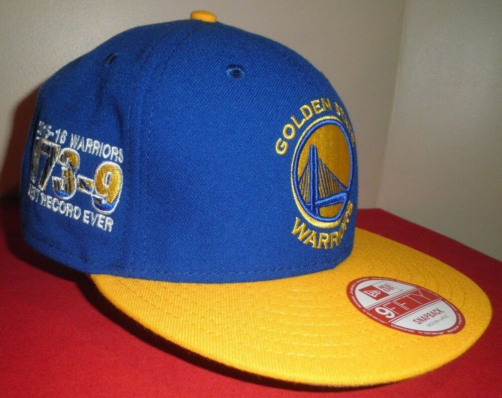 new styles d1e50 008fc Details about New Era 9FIFTY GOLDEN STATE WARRIORS Best Record Ever 73-9  SnapBack NBA Hat NWT