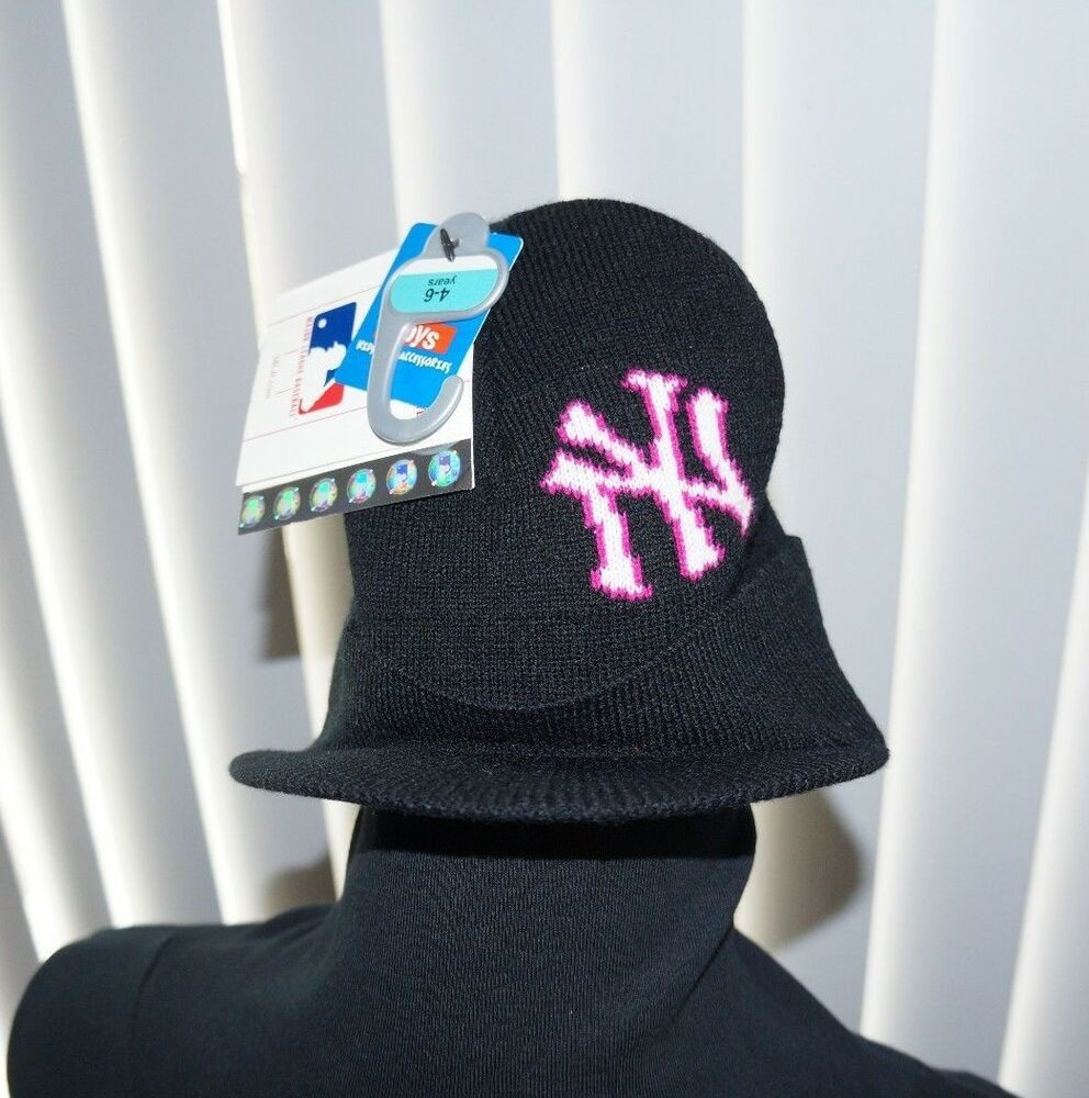 6d7601c5da7 Details about Youth New York Yankees Beanie Hat Kids 4-6 Knit New Era MLB  Baseball Black Cap