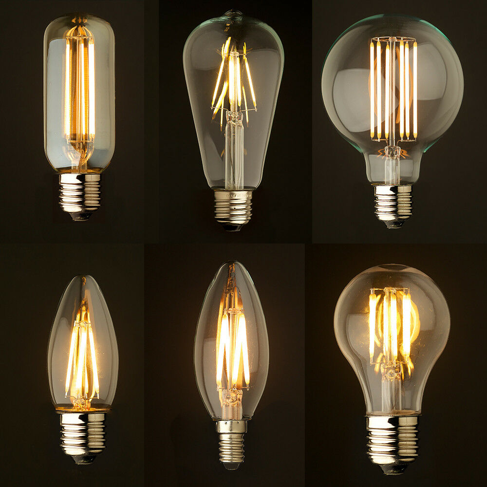 vintage filament led edison bulb dimmable e14 e27 decorative industrial light a ebay