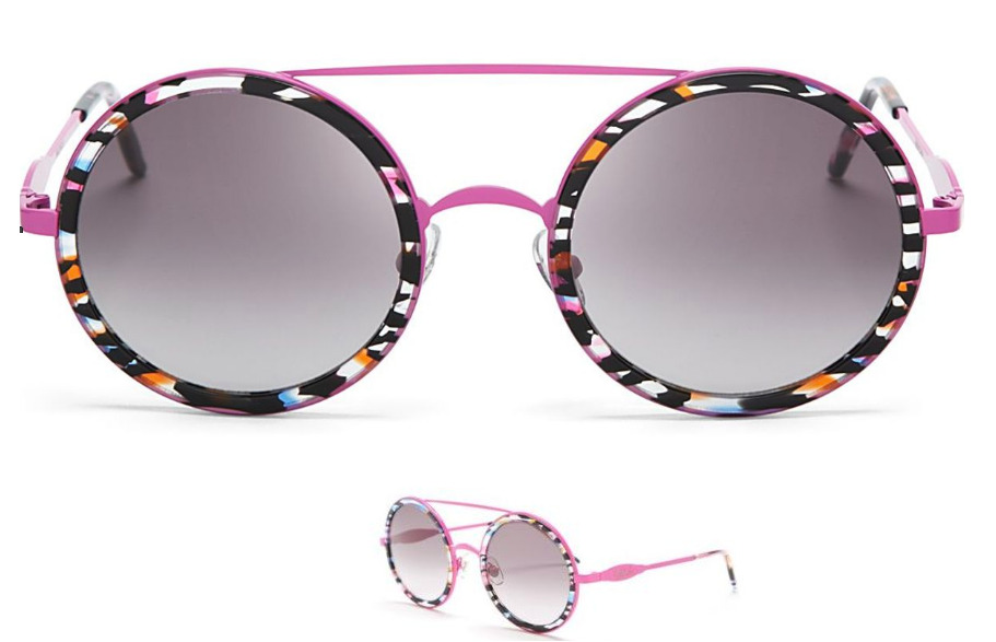 634704c2d9024 Details about WILDFOX Women s Winona Fire Works Round Sunglasses NEW Tags  Box Multi Color  210