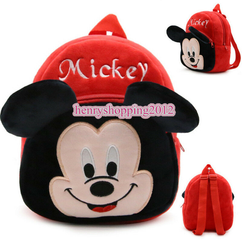 38f2e9d6a680 Details about Boys Girls Kids Nursery Toddler Mickey Mouse Backpack  Schoolbag Mini Bag Outdoor