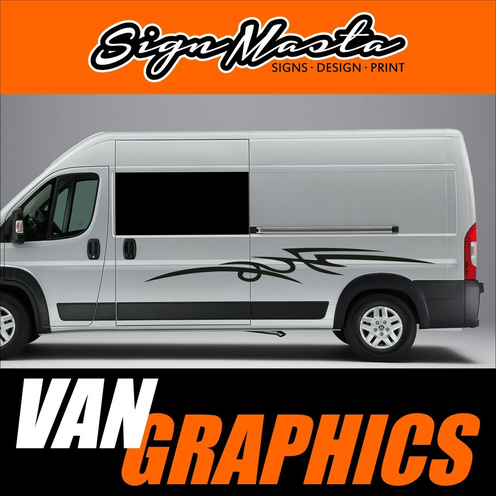 Motorhome camper van vinyl graphics stickers decals set exterior ebay