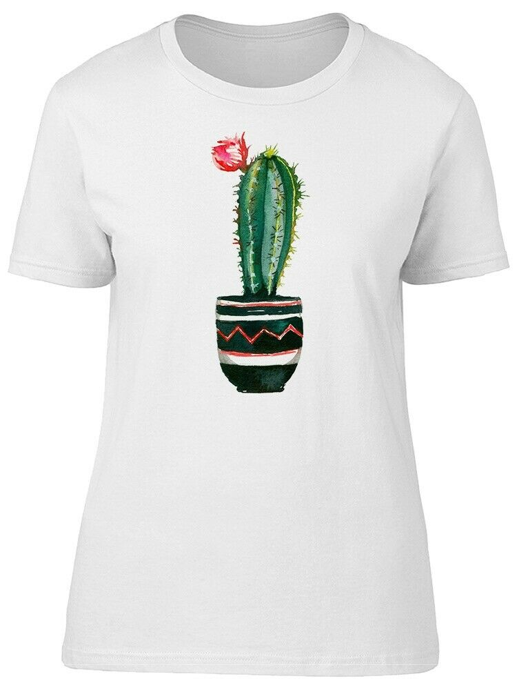c0e4f2a3 Details about Watercolor Cactus Red Flower Women's Tee -Image by  Shutterstock