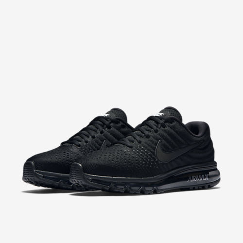 09abdbf652 Details about Nike Air Max 2017 Size 7.5-13 Men's Running Shoes Triple Black  849559-004