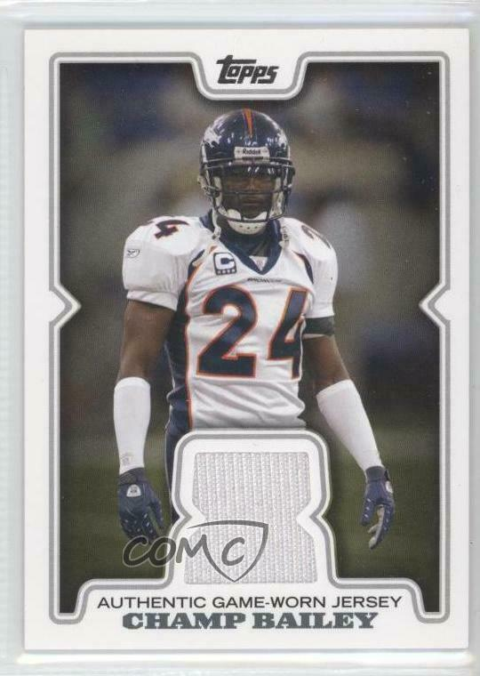 09bd350b3bd4f Details about 2008 Topps Retail Relics  R-CB2 Champ Bailey Chicago Bears  Denver Broncos Card