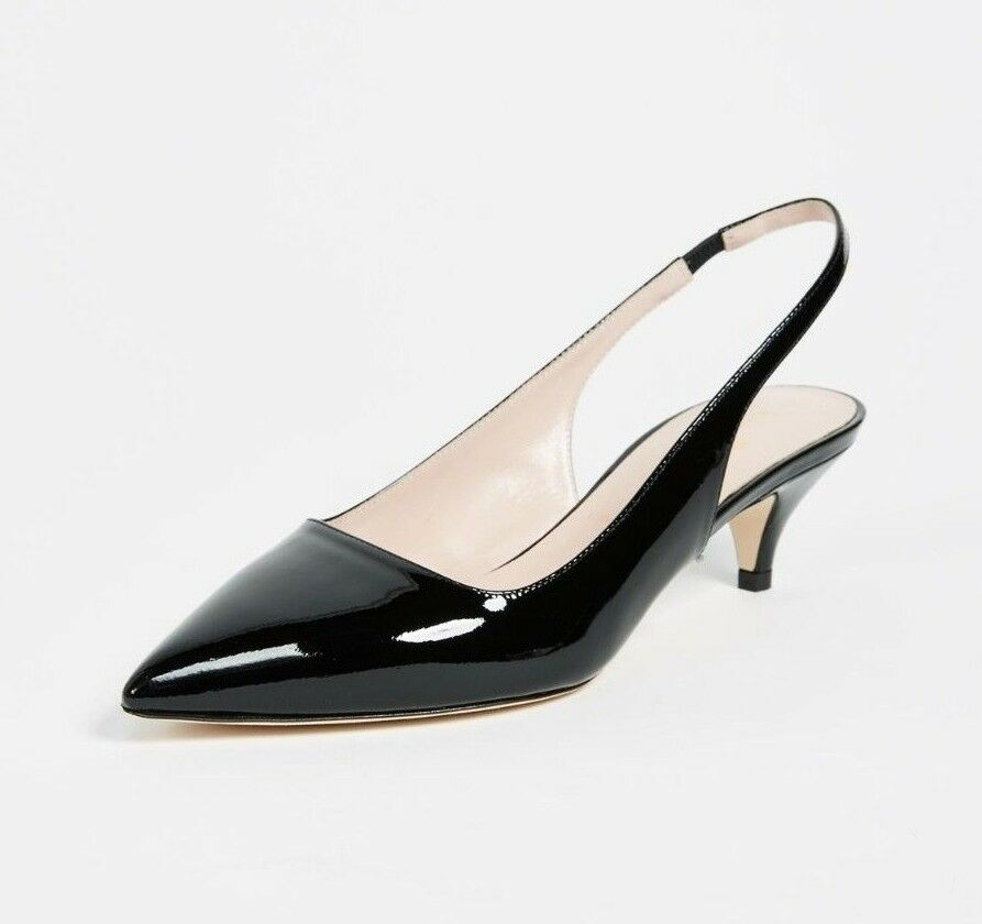 4cdf249cdff3 Details about NEW Gorgeous Kate Spade Ocean Heels Sz 6M Italian Leather  Slingback Shoes Black