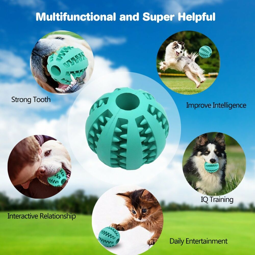 Sl Interactive Rubber Dog Ball Toys Pet Chew Play Toys For Puppies
