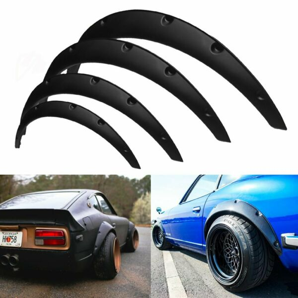 4Pcs JDM Universal Fender Flares 50mm/75mm Wide Body Kit Wheel Arches Durable PU