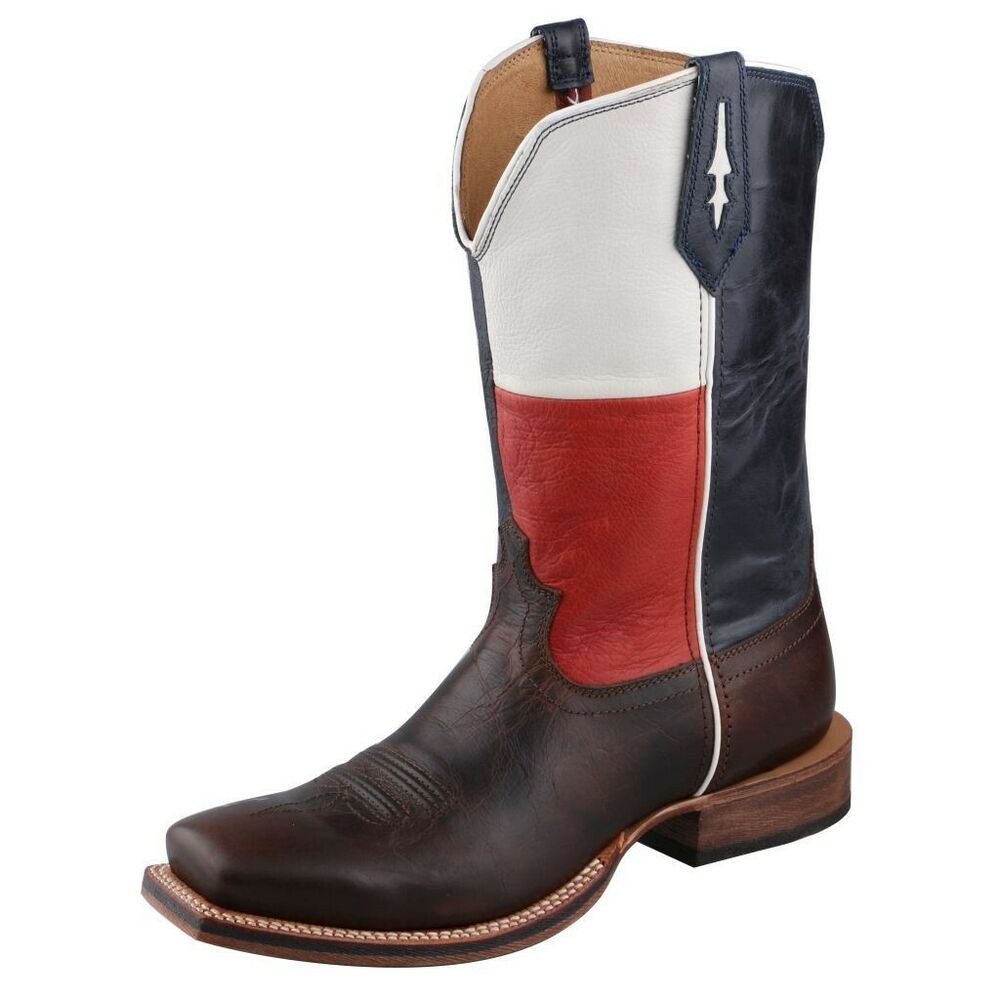3f8c1271f91de Twisted X Men s Chocolate Texas Flag Square Toe Boots MRR0003