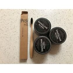 Kyпить 3 PACK 100% ORGANIC COCONUT ACTIVATED CHARCOAL NATURAL TEETH WHITENING POWDER на еВаy.соm
