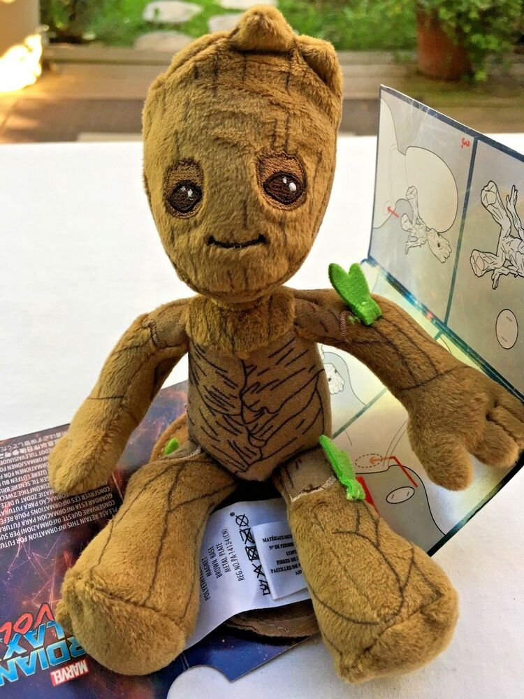 Guardians Of The Galaxy Baby Groot Plush W Magnet Sits On