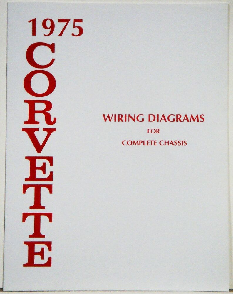 1975 Corvette Factory Wiring Diagram Manual