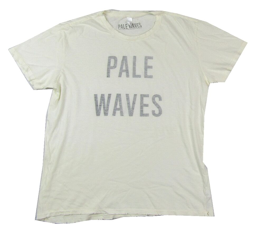 Pale Waves Inside Out Print Ivory White Distressed T Shirt New Band