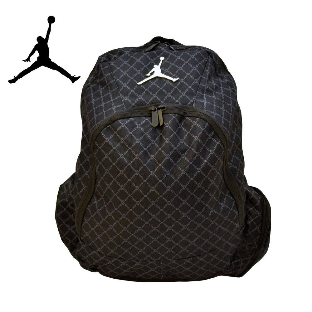 e59d3b4fe4c54d Details about Air Jordan Jumpman 23 Nike Backpack Laptop Sleeve Black Chain  (9A1115-023)
