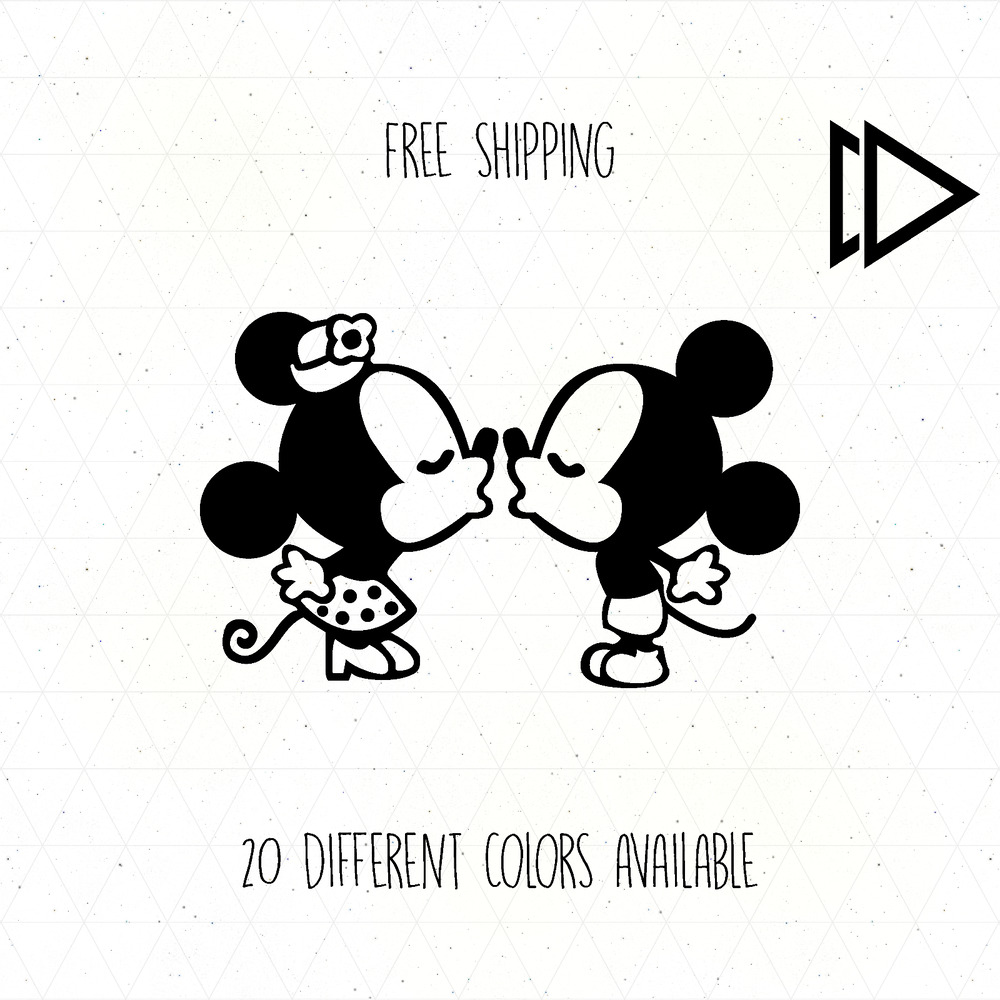 Details about mickey mouse kissing minnie mouse vinyl decal sticker car laptop disney kiss