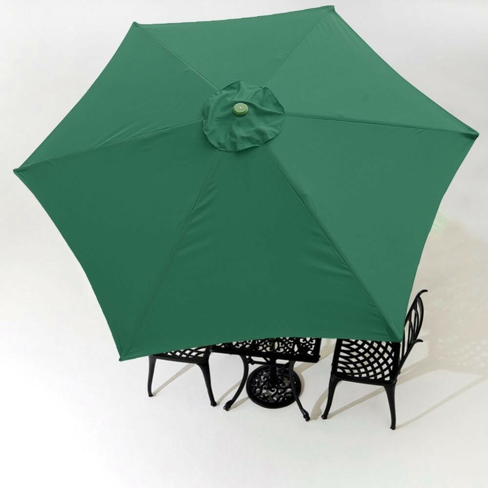 9FT Green Patio Umbrella Replacement Canopy 6 Rib Outdoor ...