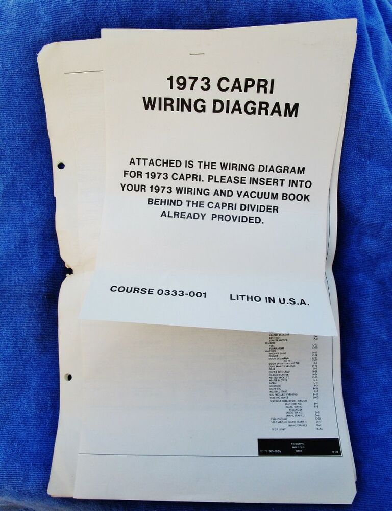 1973 Capri Wiring Diagram