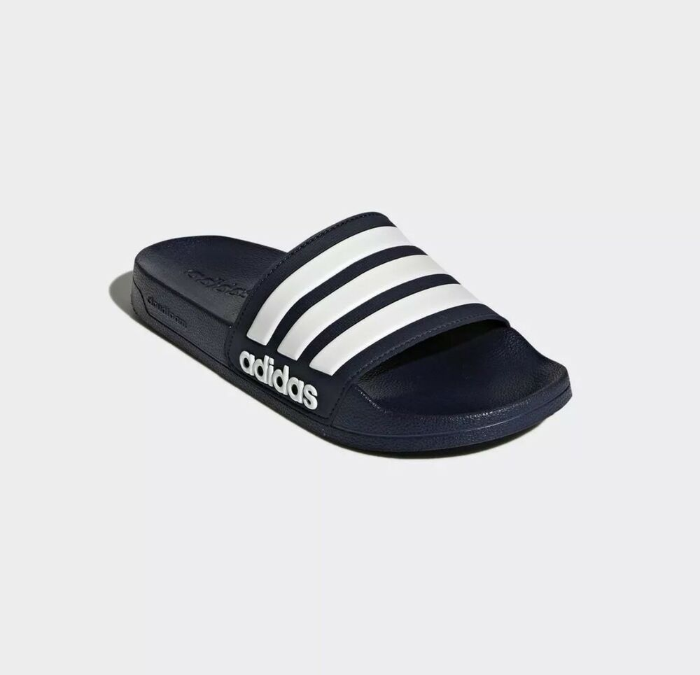8fe225cb5 Details about Adidas CF Adilette Slides Sandal Slippers AQ1703 Navy White  Free Shipping