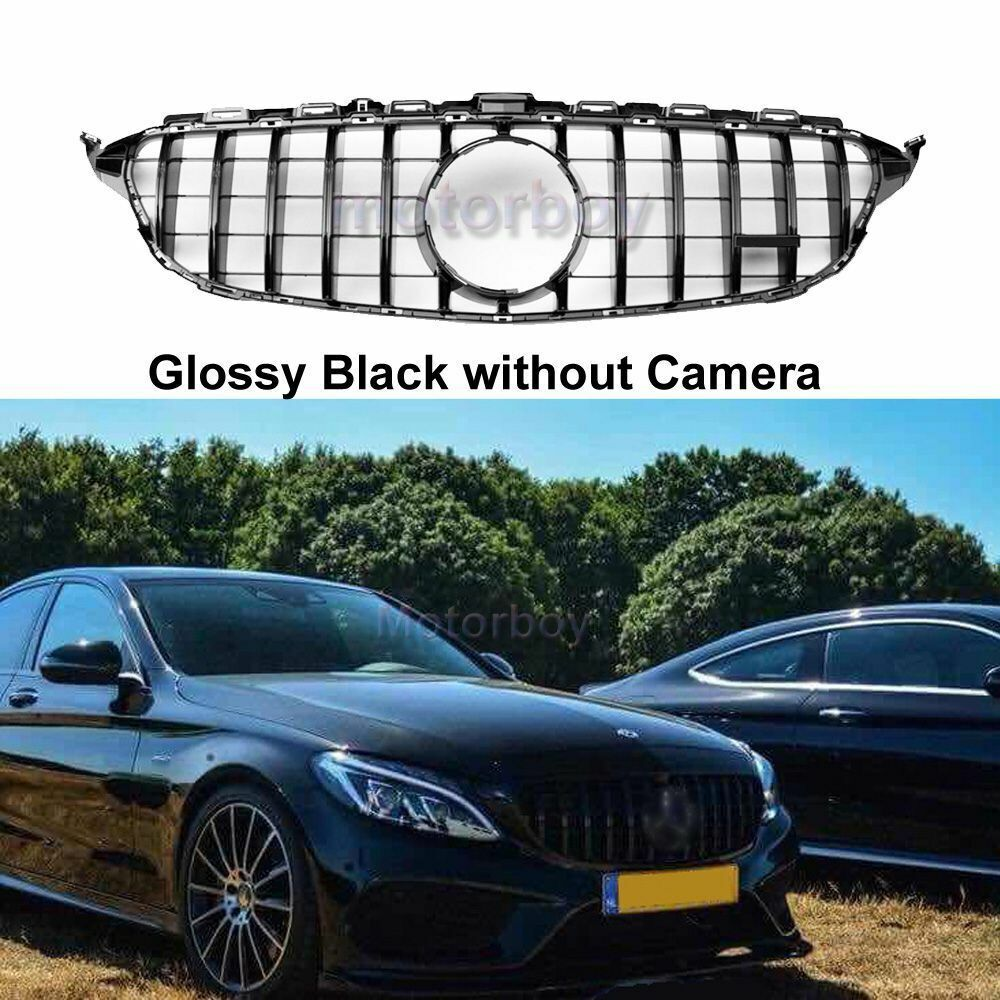 without camera gt panamericana grill for mercedes c w205. Black Bedroom Furniture Sets. Home Design Ideas