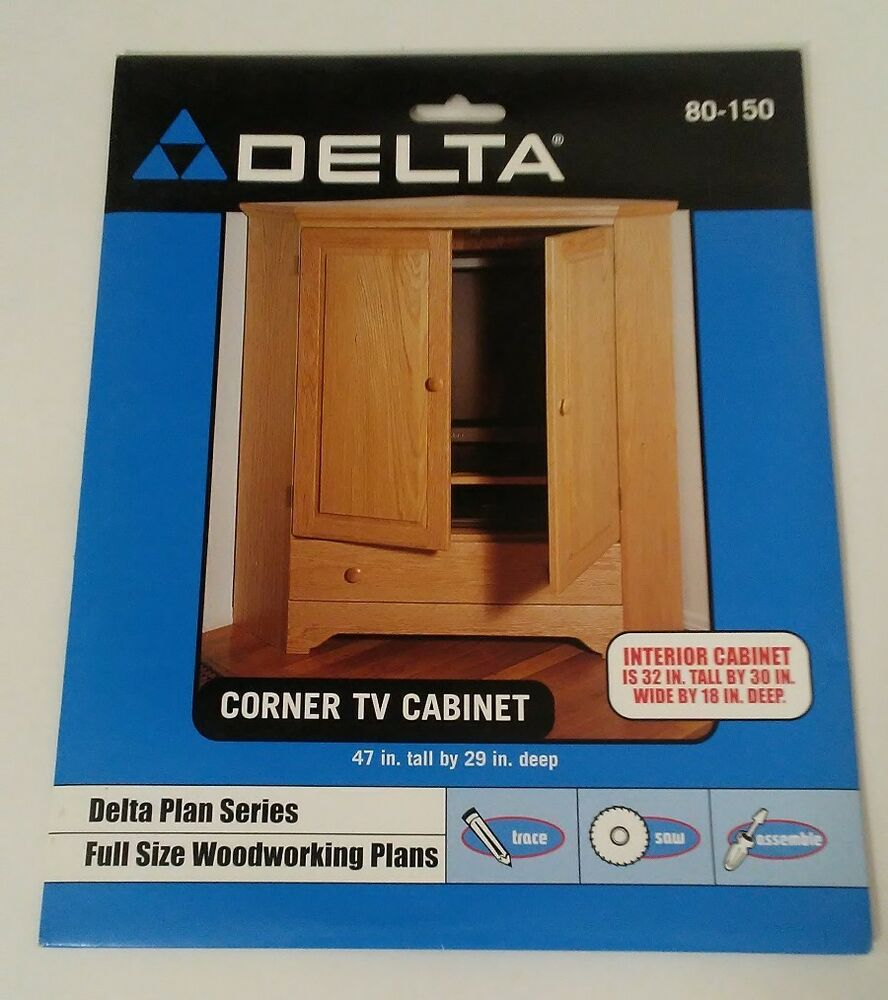 Delta Plan Series Full Size Woodworking Plans Corner Tv Cabinet 80