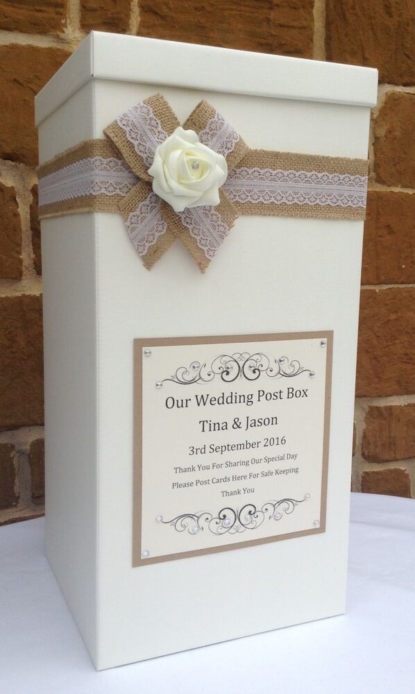 Vintage Wedding Card Post Box Wedding Favours Wedding Gifts