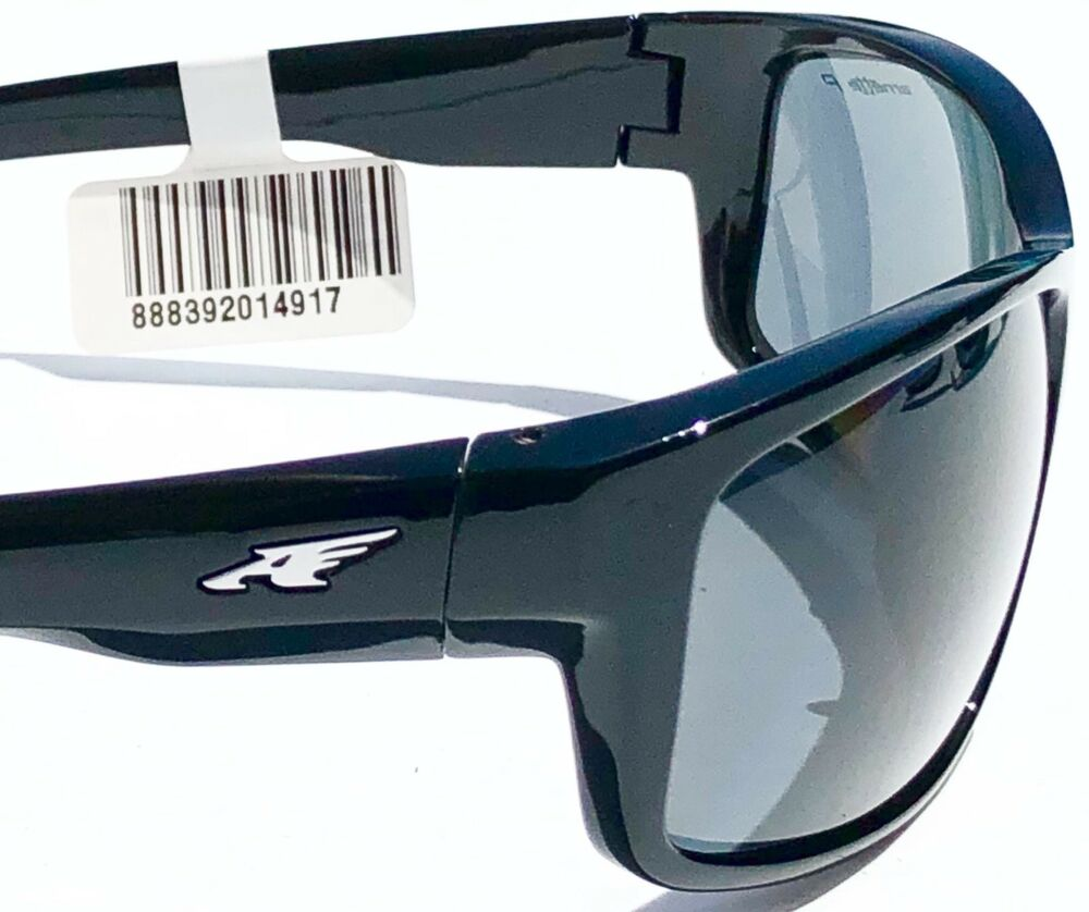 43ea0a801958d NEW  Arnette FASTBALL in BLACK Sport POLARIZED Grey Sunglass 4202-2267