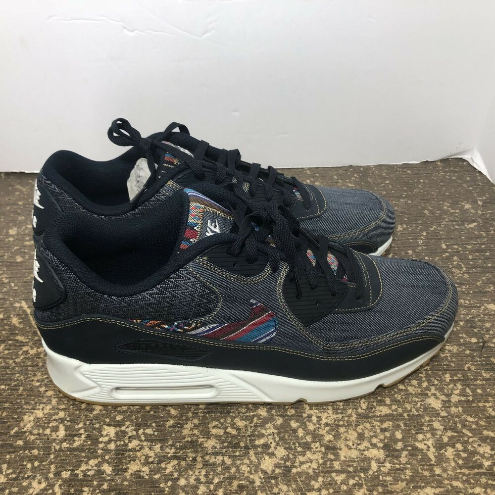 finest selection 9b994 fe93f Details about Nike Air Max 90 Premium Dark Obsidian Afro Punk Gum Bottom  700155 402 Size 13