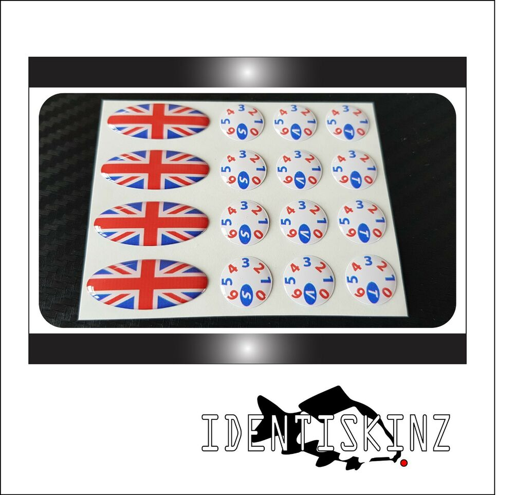 Delkim txi plus ev std delkim style oval dial sticker decal set union jack kit ebay