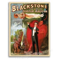 Blackstone Master of Magic 1930s Vintage Style Magician Poster - 20x28