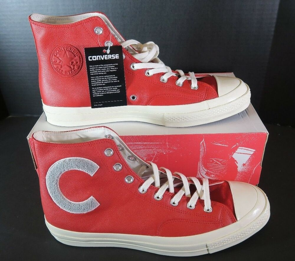 2b44d8111c35 Details about NEW Converse First String Chuck Taylor All Star 70 Big C  Ivory Red 159677 SZ 9