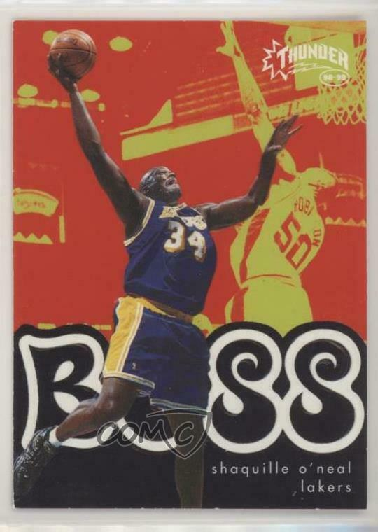 Details about 1998 Skybox Thunder Boss 13B Shaquille O Neal Los Angeles  Lakers Basketball Card da20d657b