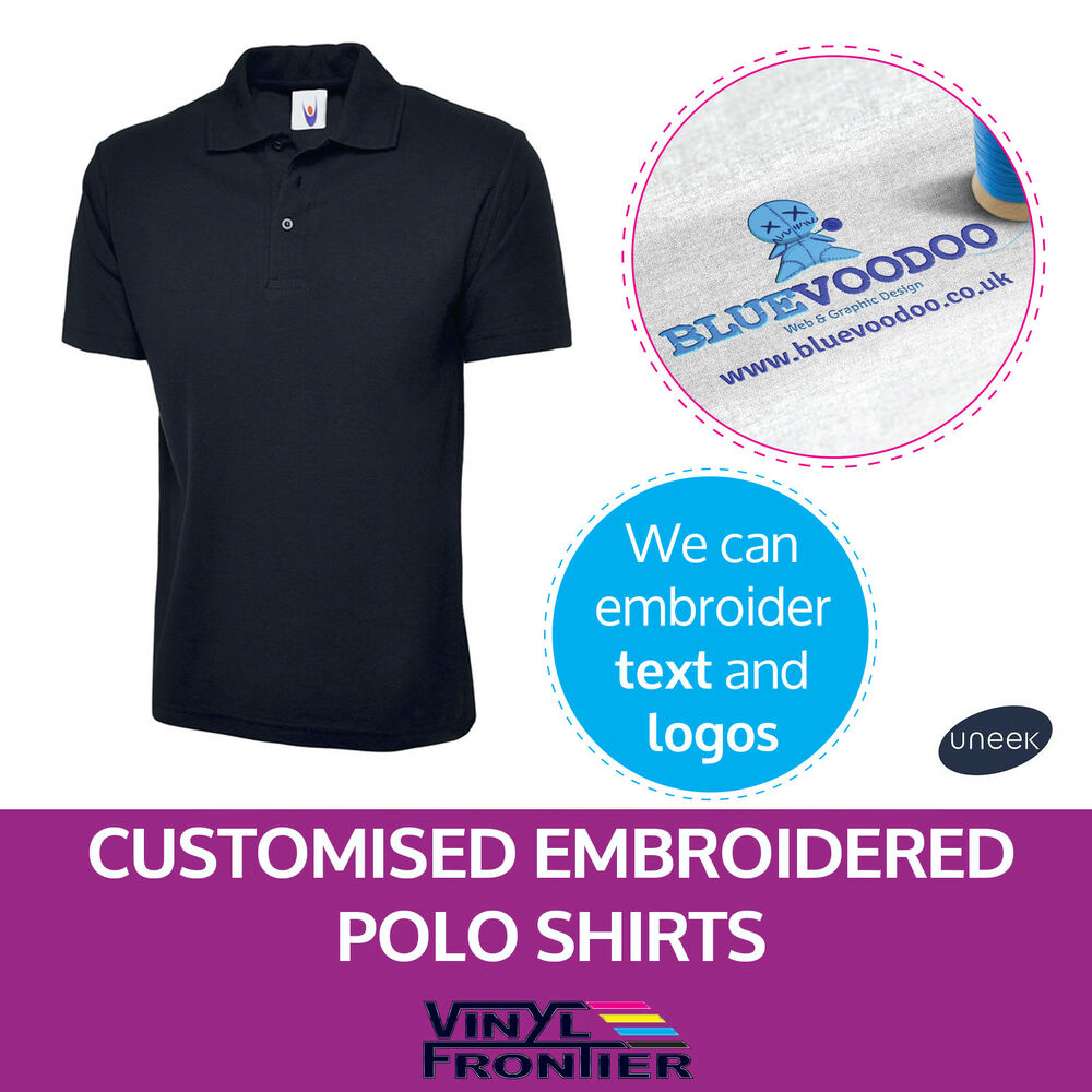 Personalised Embroidered Polo Shirts Customised Polo Shirts With