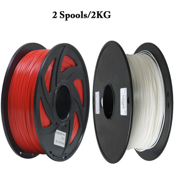 FR Seller! 2Kg Filament PLA 1.75mm White And red Color For 3D Prusa Printers