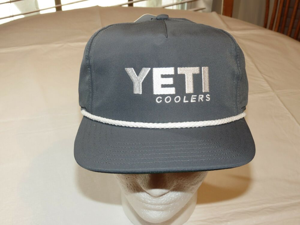 917412a07a29a Details about Mens Yeti Coolers Rope Hat Cap One Size Fits Most Slate Grey snapback  snap back