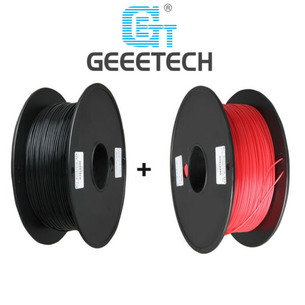 EU Stock! Two Rolls  PLA Filament 1.75 mm black and red for imprimante 3D