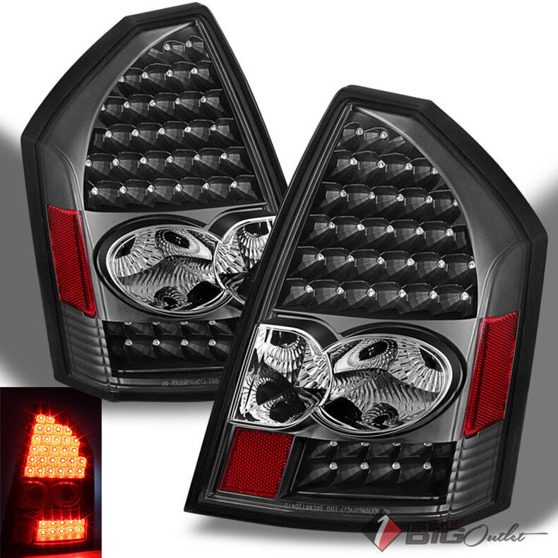 Chrysler 300 2006 Black Led Tail Lights: For 05-07 Chrysler 300C Black LED Performance Tail Lights