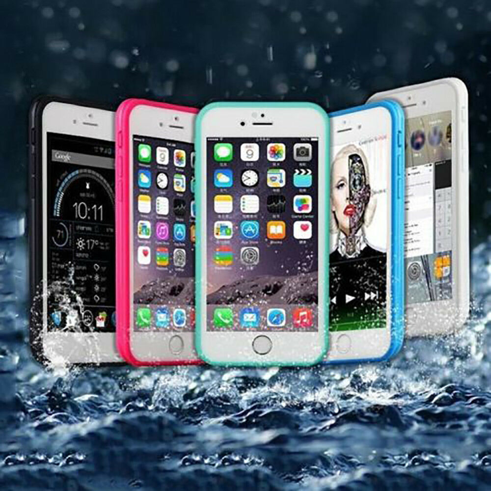 separation shoes 7eaa8 f529a Full Protection Waterproof Hybrid Rubber Case Cover For iPhone 10 X 8 7  Plus 6s   eBay