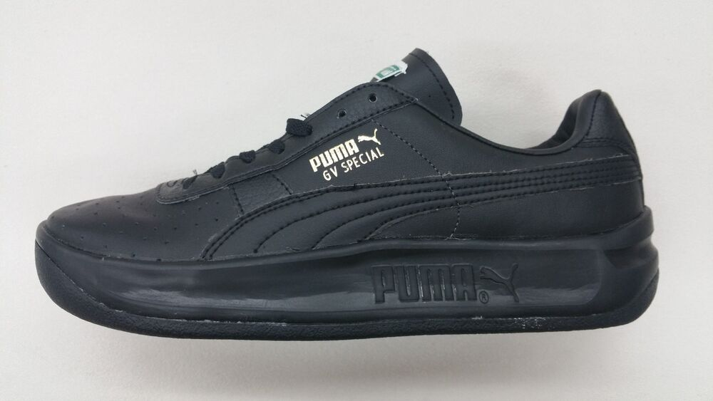4b7b2bed0a2 Details about PUMA GV SPECIAL ALL BLACK LEATHER SILVER RETRO CLASSIC MENS  SNEAKERS 343569-45