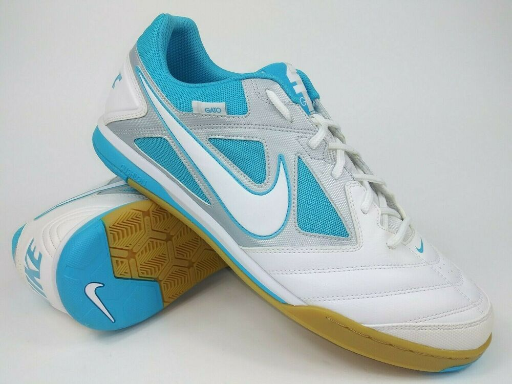 03900e6dc Details about Nike Mens Rare Nike5 Gato 415122-114 White Blue Indoor Soccer  Shoes Size 12