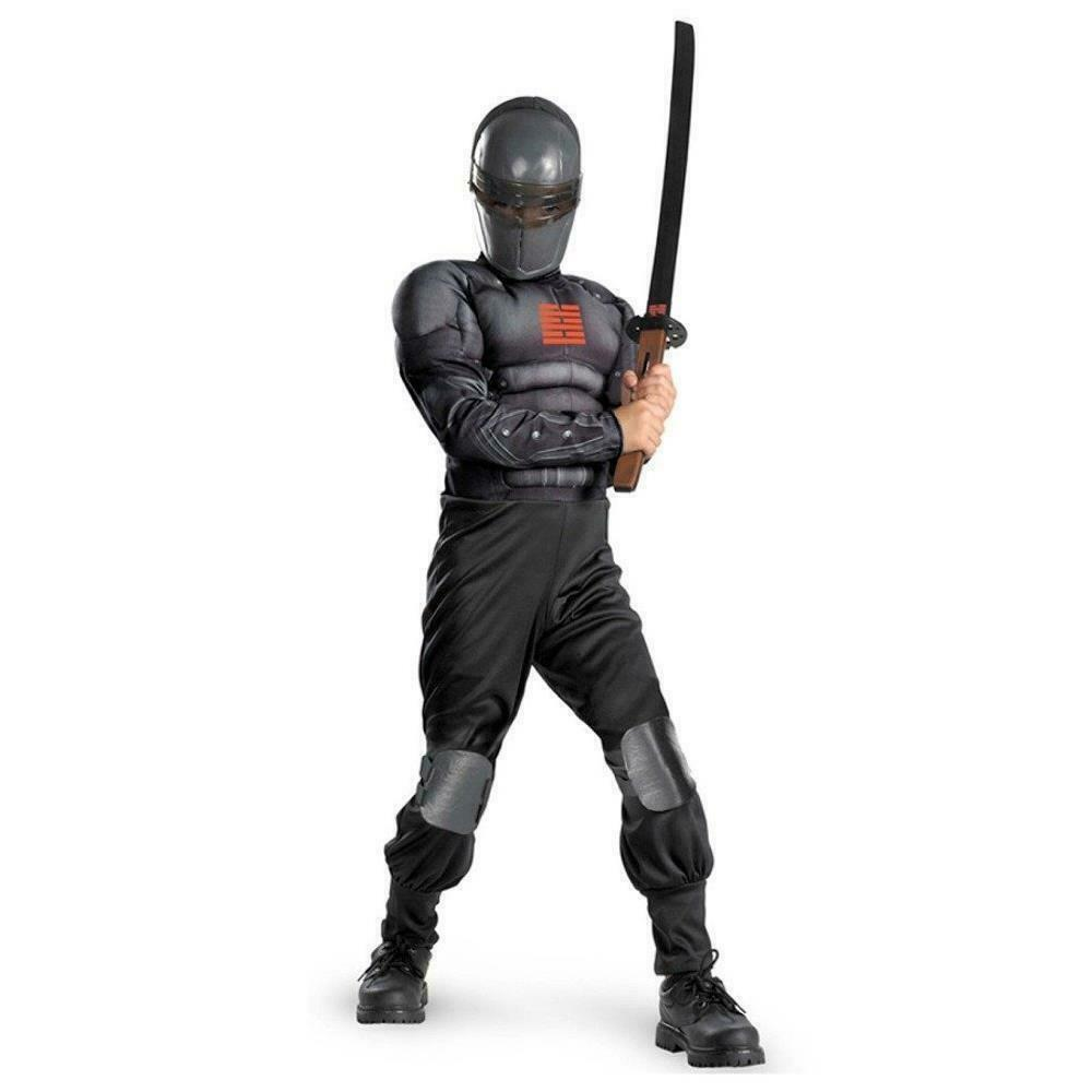 GI Joe Snake Eyes Light Up Deluxe Muscle Costume size S 4/6 Kids Outfit  CHOP   eBay